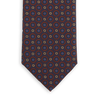 E.Marinella Navy Circle Printed Silk Tie Front