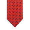 E.Marinella Red Geometric Printed Silk Tie Front