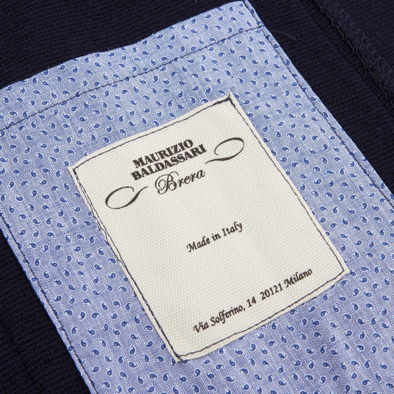 Maurizio Baldassari Navy Knitted Wool Blazer Inside