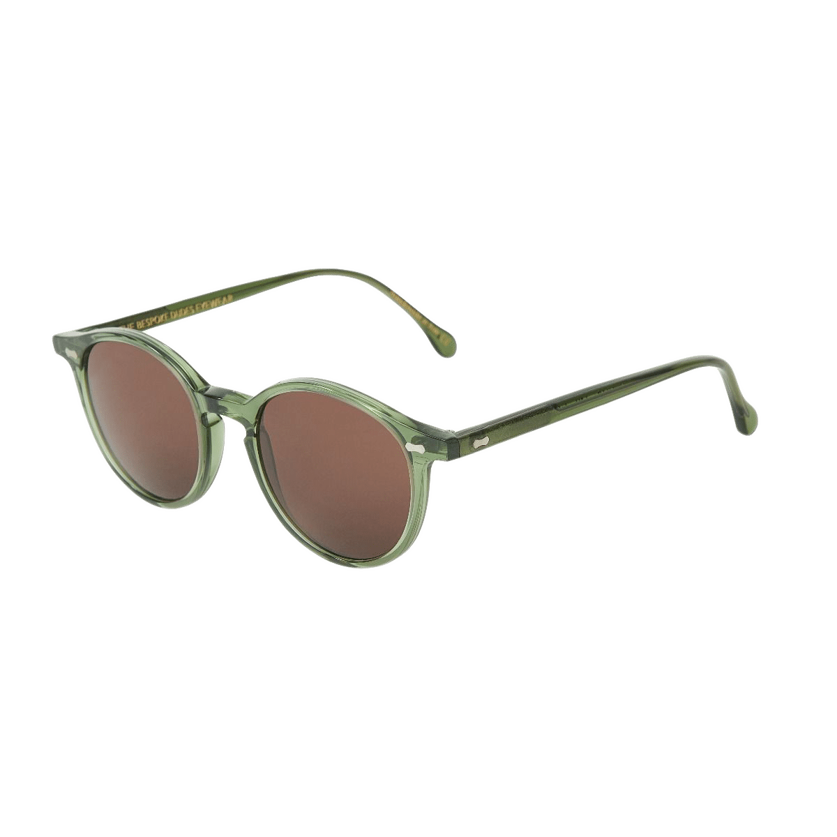 The Bespoke Dudes Eywear Cran Green With Tobacco Lenses Feature