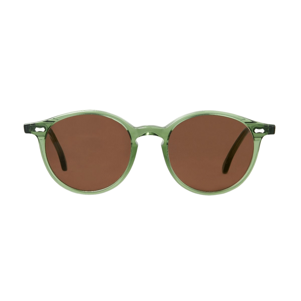 The Bespoke Dudes Eywear Cran Green With Tobacco Lenses Front