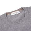 Gran Sasso Light Grey Merino Crew-Neck Collar