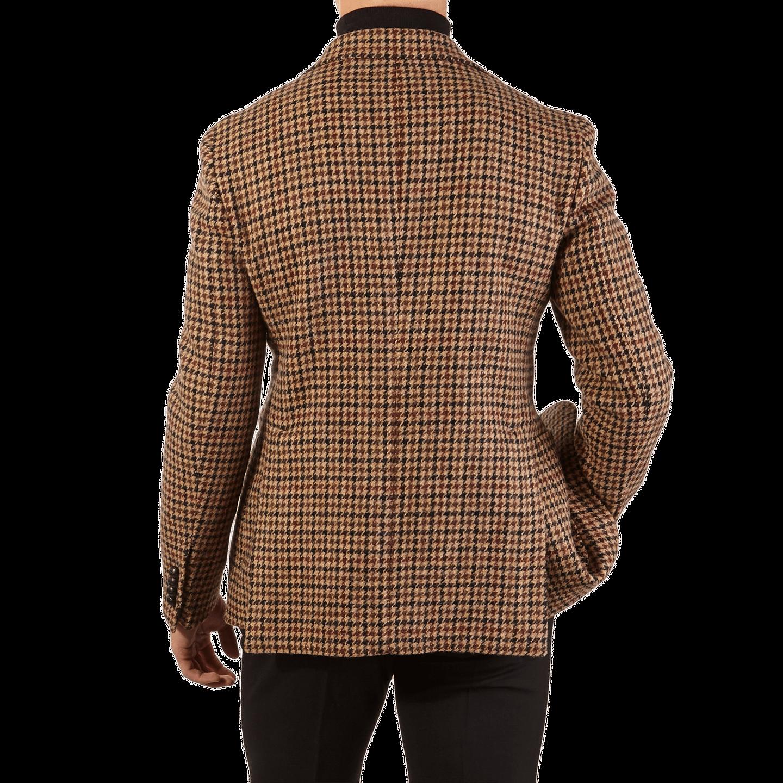 Light brown Check Harris Tweed Fabric