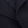 Tagliatore Navy Herringbone Wool Cashmere Coat Closed
