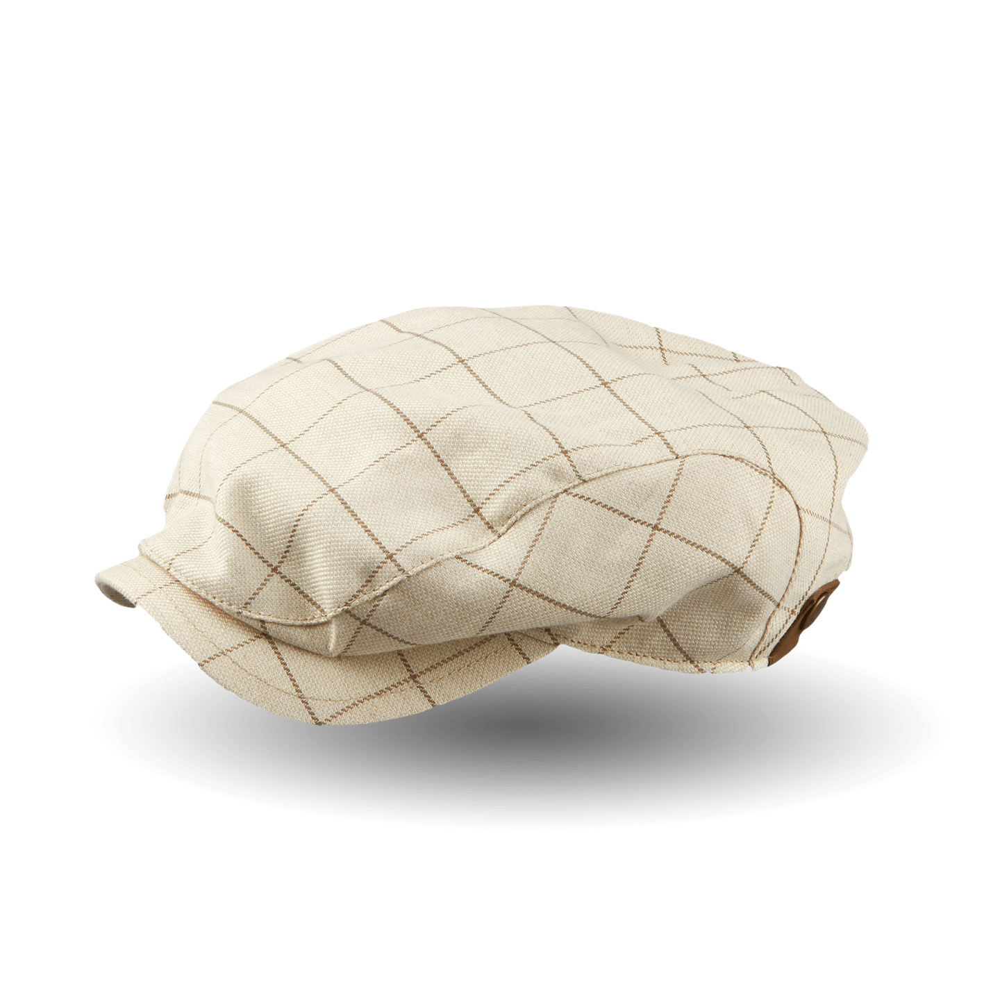 Wigéns Beige Checked Ivy Contemporary Wool Cotton Cap Feature