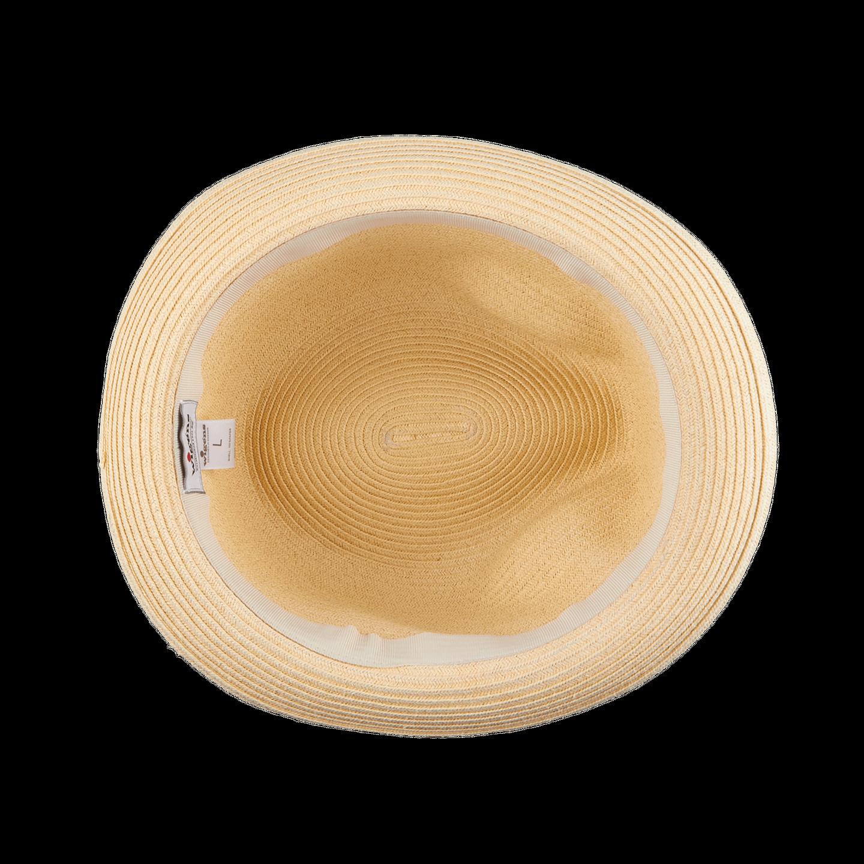 Wigéns Beige Classic Trilby Hat Inside