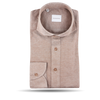 1906 Baltzar Beige Pop-Over Slim Fit Shirt Feature