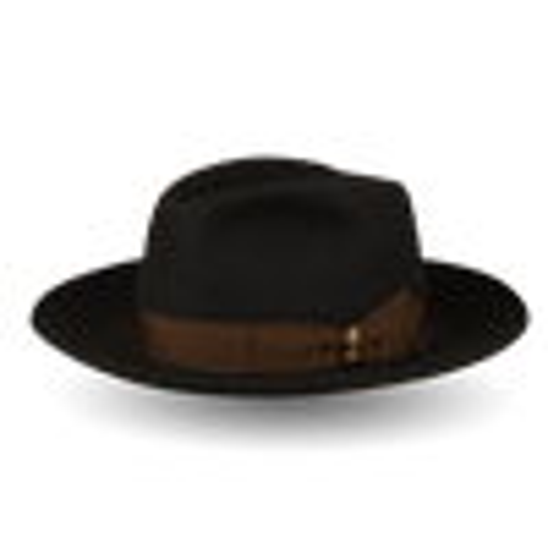 Dark Green Alessandria Fedora Large Brim Hat Feature
