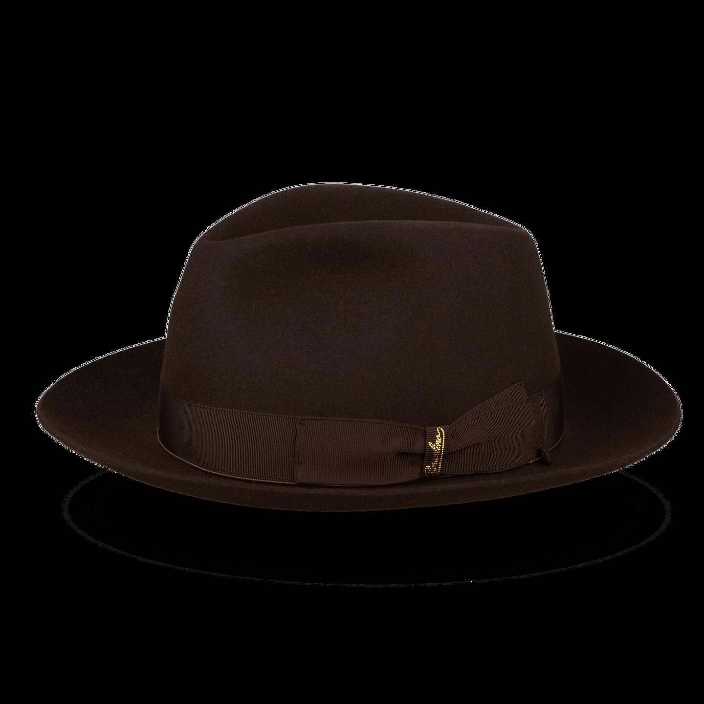 Brown Alessandria Fedora Medium Brim Hat Feature