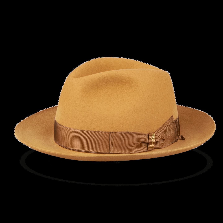 Camel Alessandria Fedora Medium Brim Hat Feature