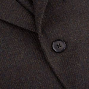Caruso Green Wool Cashmere Tweed Butterfly Blazer Closed