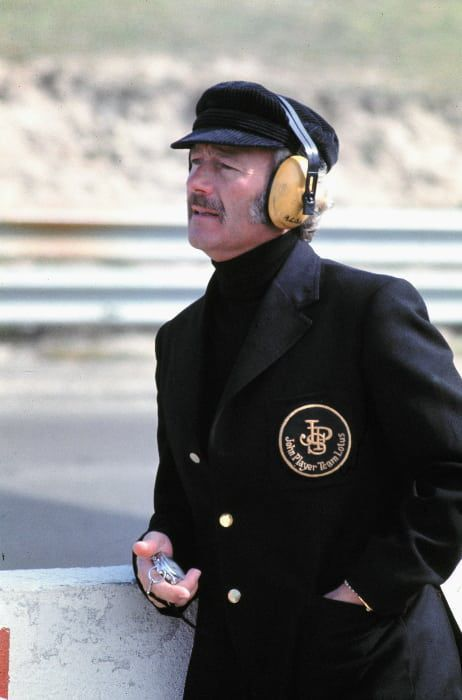 Team Lotus manager Colin Chapman. (Photo by The F1 History Wiki)