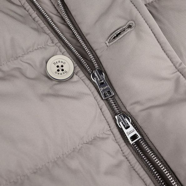 Herno Grey Furlined Parka Zipper