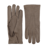 Hestra Light Grey Peccary Unlined Palm Button Gloves Closed