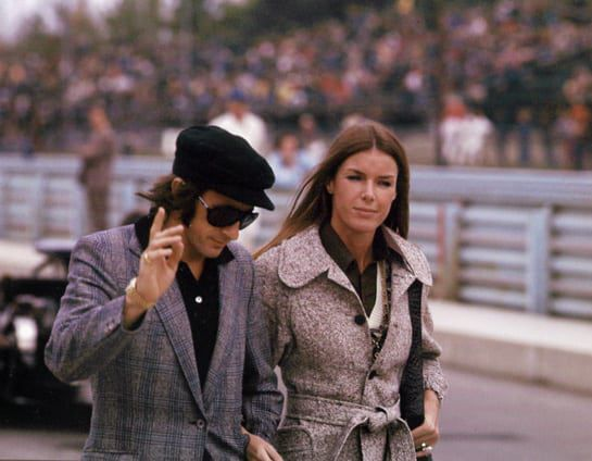 Sir Jackie and Lady Helen Stewart, 1970s. (Photo by Pintrest)