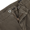 Mason's Green Milano Washed Cotton Chinos Zipper