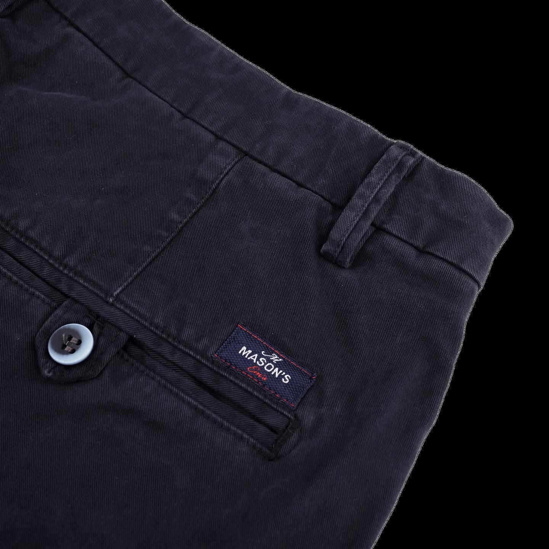 Mason's Navy Milano Washed Cotton Chinos Pocket