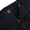 Mason's Navy Milano Washed Cotton Chinos Zipper