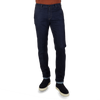 PT05 Dark Blue Grunge Relaxed Fit Cotton Stretch Jeans Front