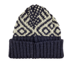 Drake's Navy Fair Isle Wool Hat Feature
