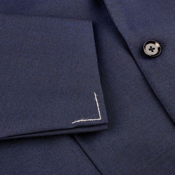 Ring Jacket Navy Fresco Suit Cuff