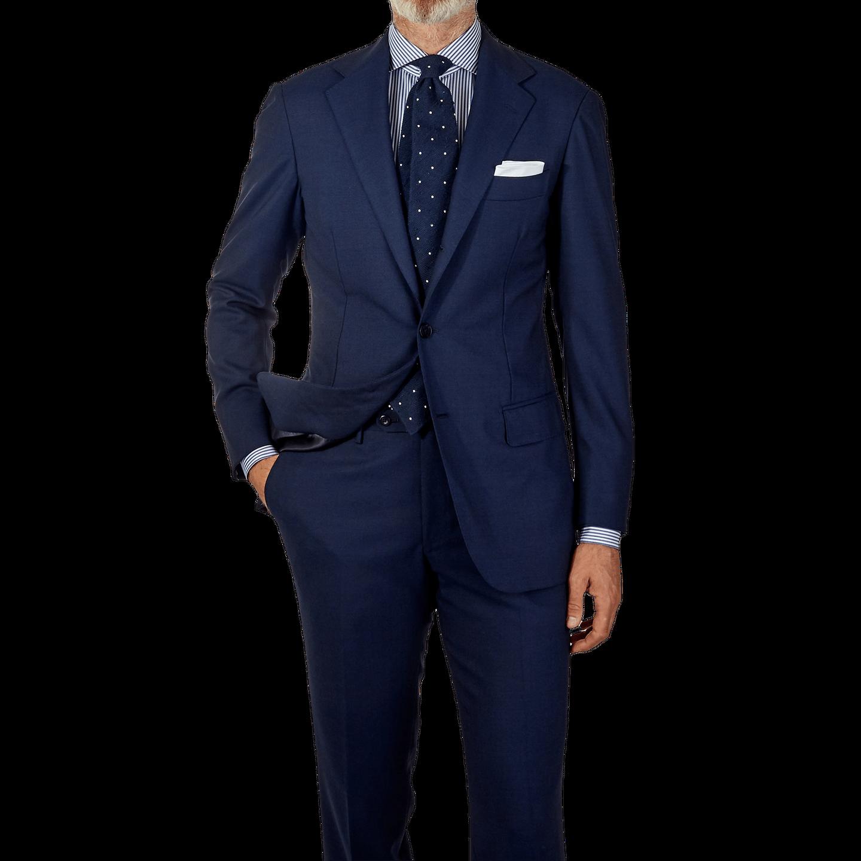 Ring Jacket Navy Fresco Suit Front
