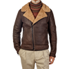 Werner Christ Brown Lambskin Leather Jona Flight Jacket Front