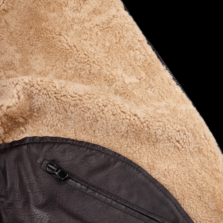 Werner Christ Brown Lambskin Leather Jona Flight Jacket Inside