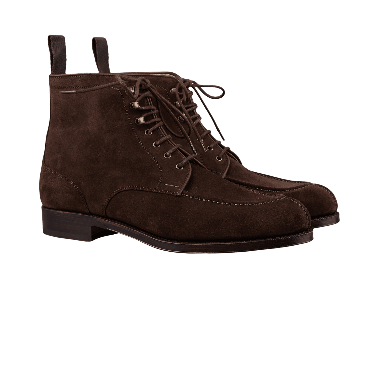 Carmina Brown Marron Suede Forest Norwegian Boots Front