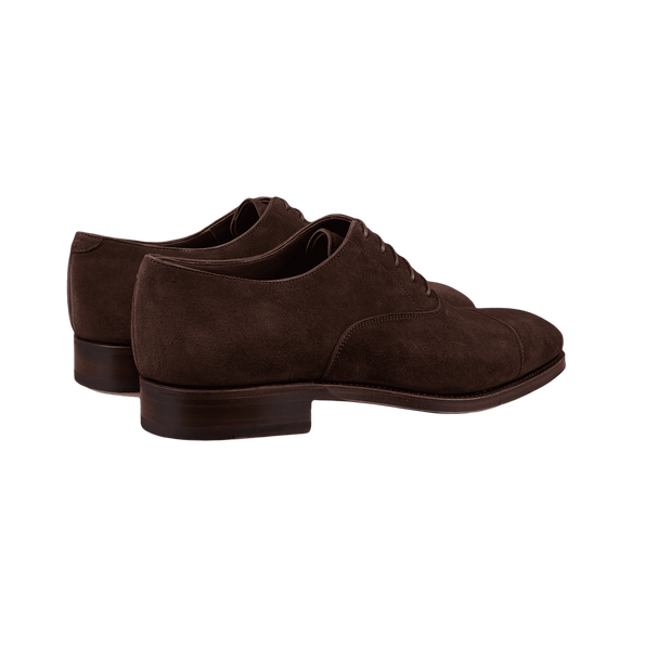 Carmina Brown Marron Suede Rain Oxfords Back