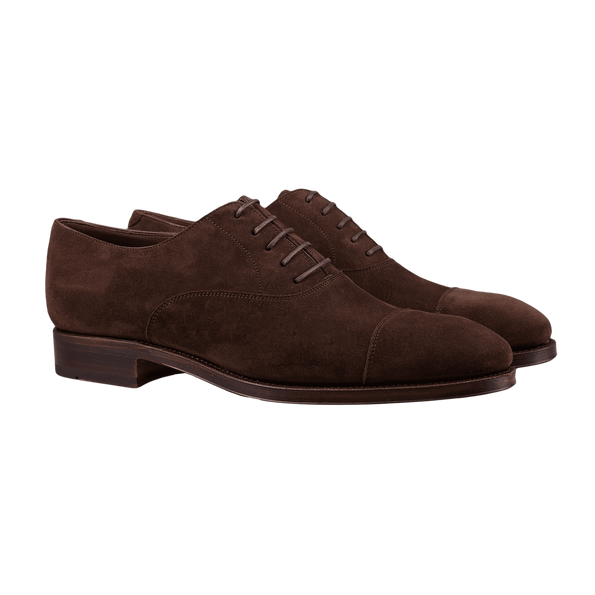 Carmina Brown Marron Suede Rain Oxfords Front