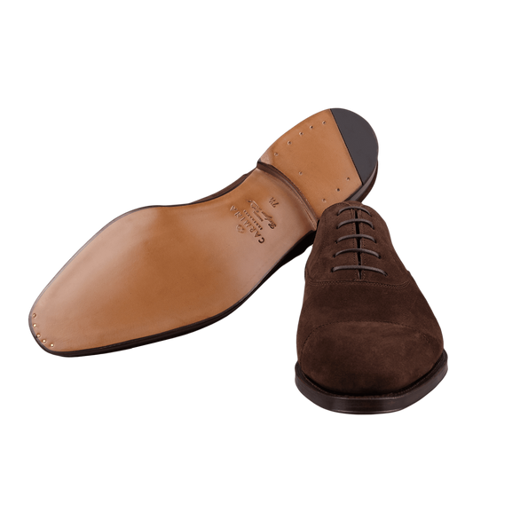 Carmina Brown Marron Suede Rain Oxfords Sole