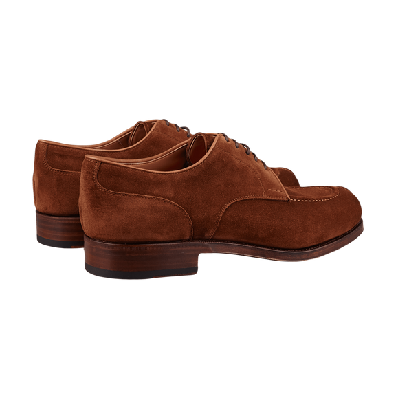 Carmina Brown Polo Suede Forest Norwegian Derbies Back