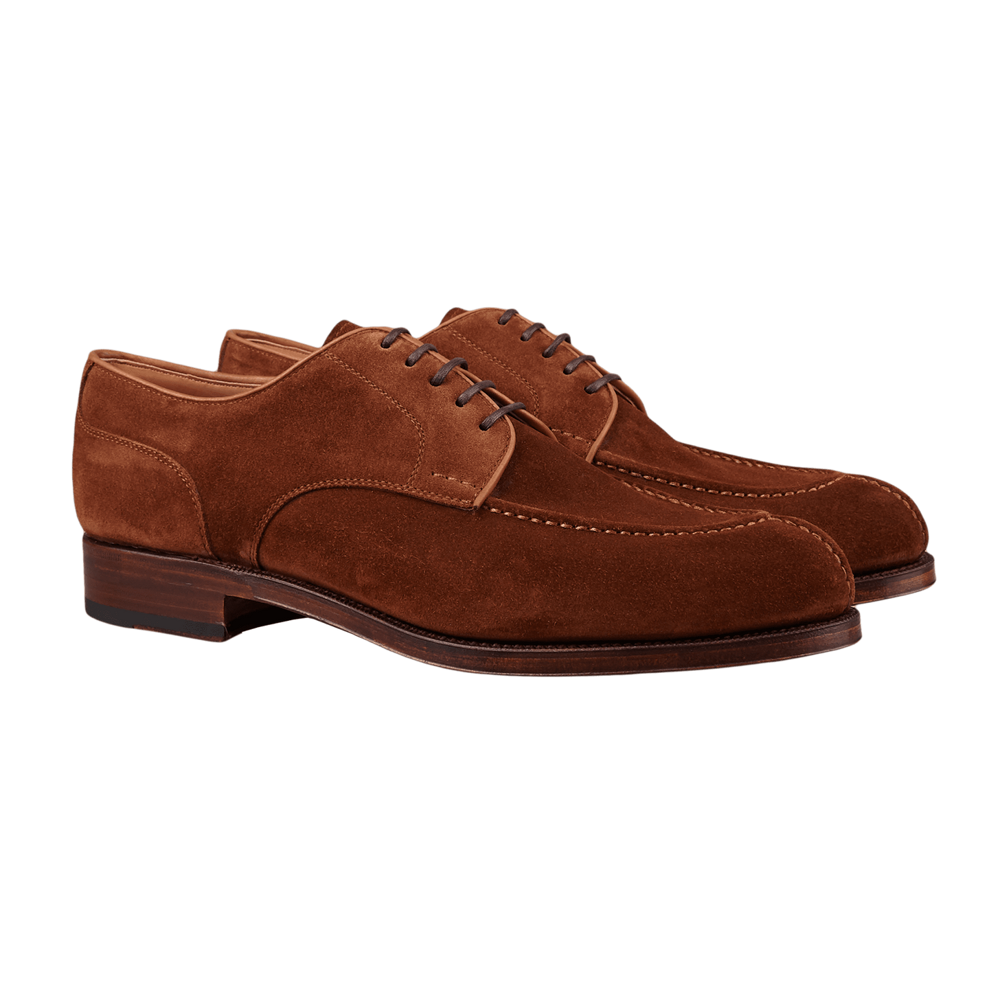 Carmina Brown Polo Suede Forest Norwegian Derbies Front