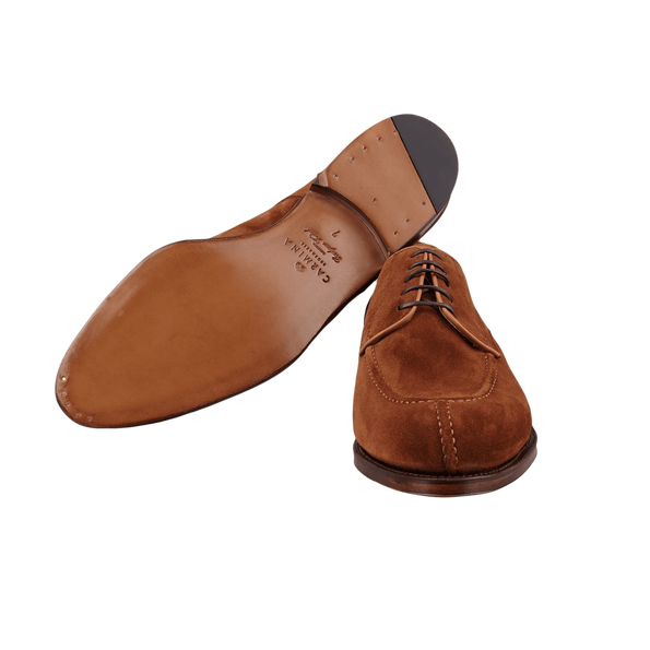 Carmina Brown Polo Suede Forest Norwegian Derbies Sole