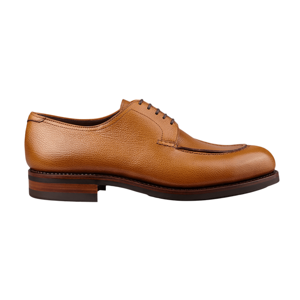 Carmina Light Brown Grain Forest Norwegian Derbies Side