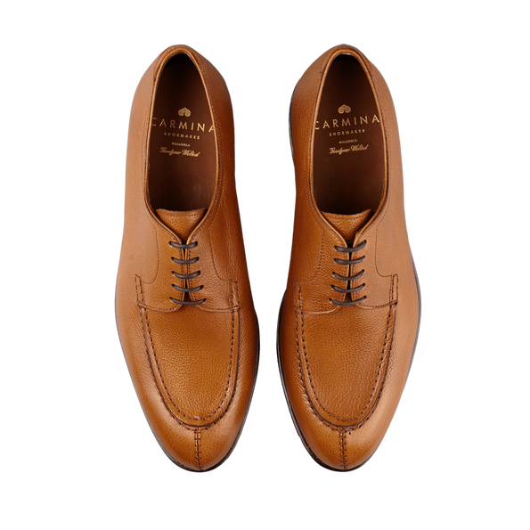 Carmina Light Brown Grain Forest Norwegian Derbies Top