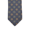 Drake's Blue Printed Medallion Self Tip Silk Tie Tip