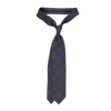 Drake's Brown and Blue Checked Wool Tie Feature