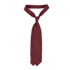 Drake's Burgundy Woven Cashmere Solid Tie Feature