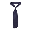 Drake's Navy Wool Camel Hair Solid Tie Feature