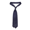 Drake's Navy Woven 50oz Foulard Silk Solid Tie Feature