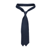 Drake's Navy Woven Cashmere Solid Tie Feature