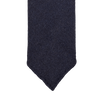 Drake's Navy Woven Cashmere Solid Tie Tip