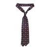 Drake's Navy Woven Jacquard Silk Tie Feature