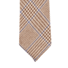 Dreaming of Monday Brown Large Glencheck 7-Fold Cashmere Tie Tip
