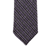 Dreaming of Monday Grey Purple Houndstooth 7-Fold Cashmere Tie Tip