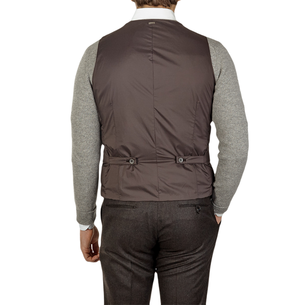 Herno Brown Light Goose Down Legend Gilet Back