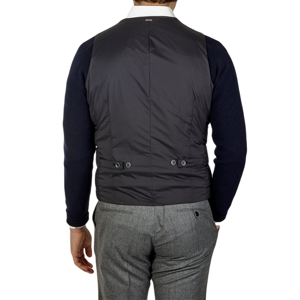 Herno Navy Light Goose Down Legend Gilet Back