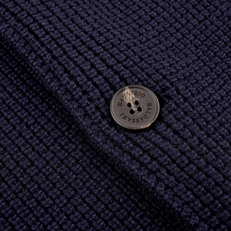 Maurizio Baldassari Navy Knitted Brenta Jacket Button